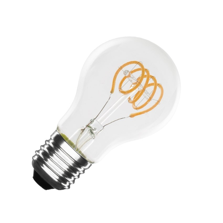 A60 E27 4W Classic Spiral Filament LED Bulb (Dimmable)