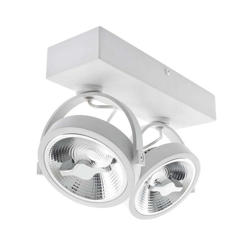 Adjustable 30W AR111 CREE LED Surface Spotlight in White (Dimmable)