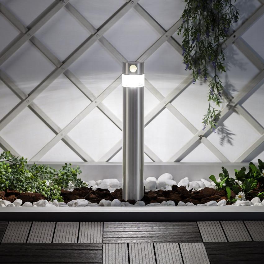 Inti Inox Solar LED Bollard Light with PIR Motion Detection