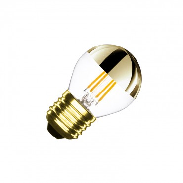 G45 E27 3.5W Gold Reflect Filament LED Bulb (Dimmable)