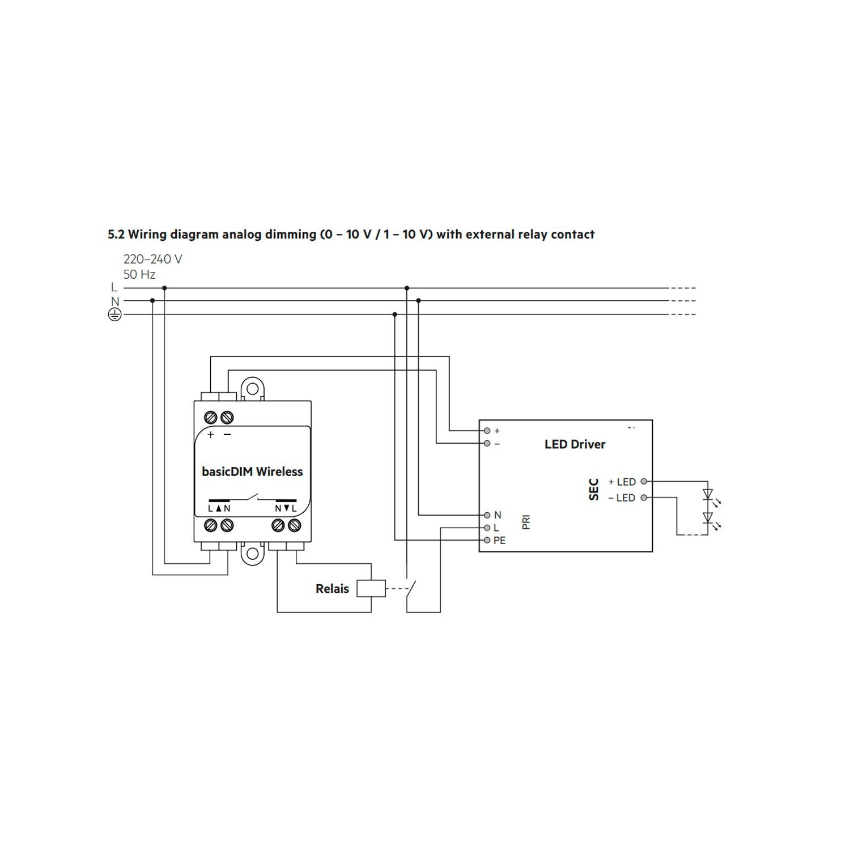 Dali 1 10v Basicdim Wireless Module Smartphone Compatible Tridonic Led Wiring Diagram Fuente De Alimentacin Ps1 Para Equipos Y Mdulos Control 4w