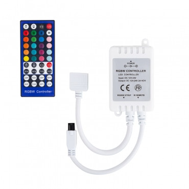 new concept 2f4ac f2e11 12V RGBW LED Strip Controller + IR Remote Control Dimmer with 40 Buttons