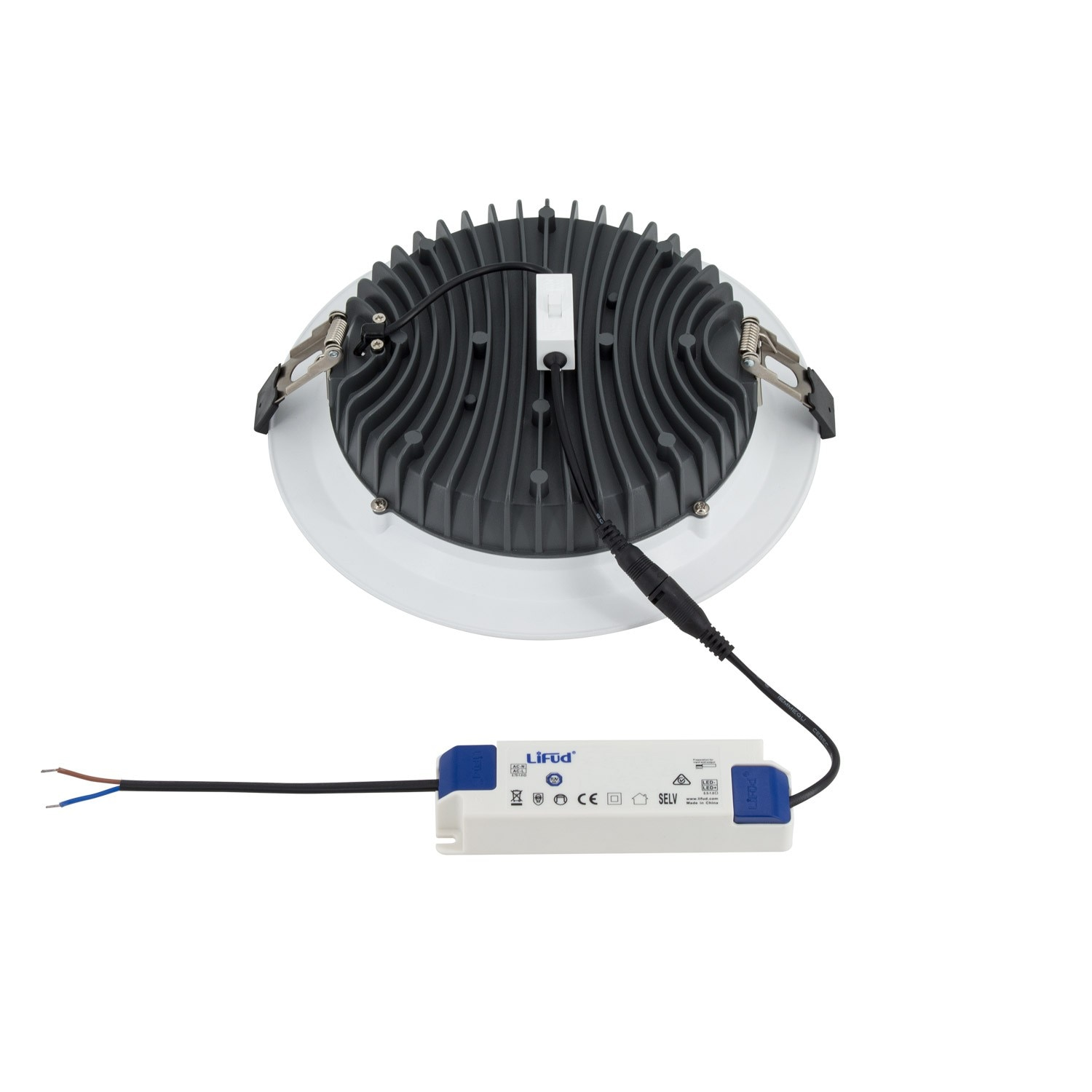 Slim 30w Led Downlight With Selectable Colour Temperature Lifud Wiring Circuit Downlights Downight T Color Seleccionable 20w