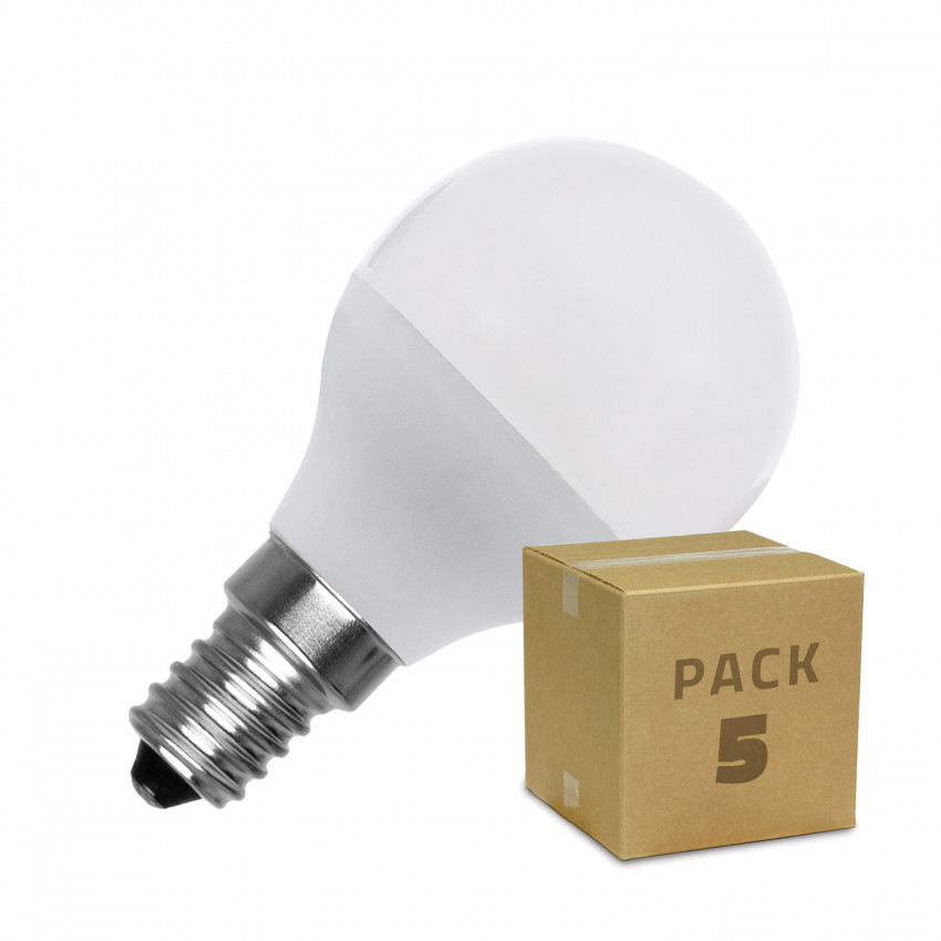 PACK of G45 E14 5W LED Bulbs (5 Units)