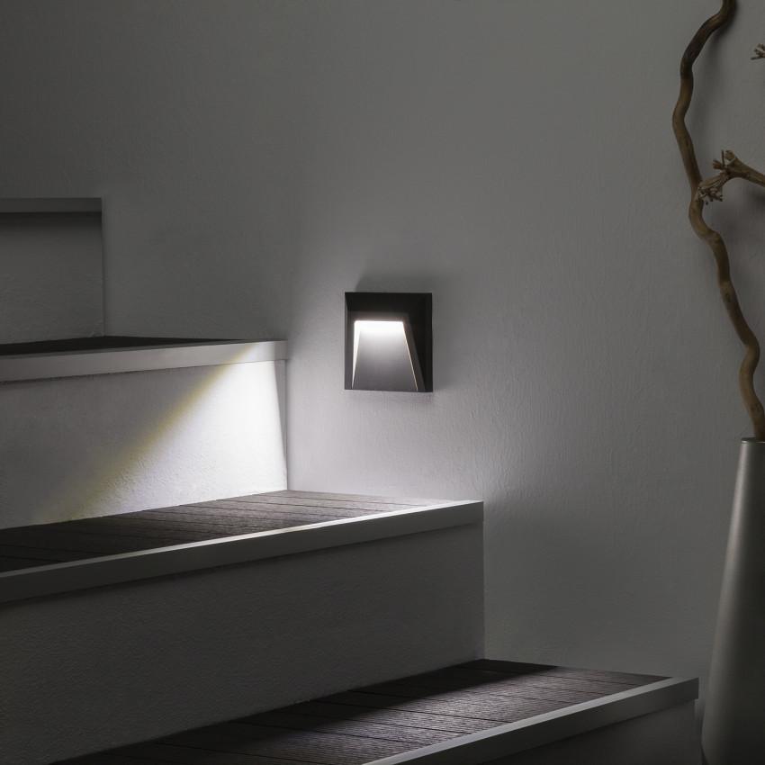Grey 1.5W Clover LED Surface Light (IP65)
