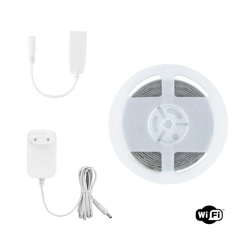 KIT: 5m RGBWW Smart Wifi LED Strip 12V, 72LED/m, IP65