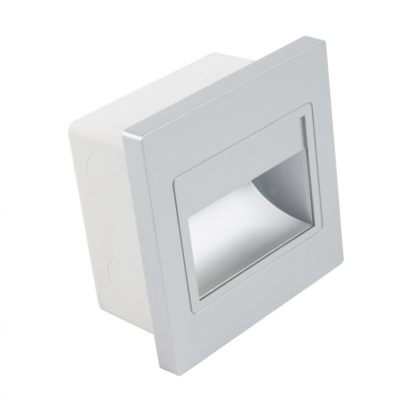 Randy LED Step Light with a Grey Finish