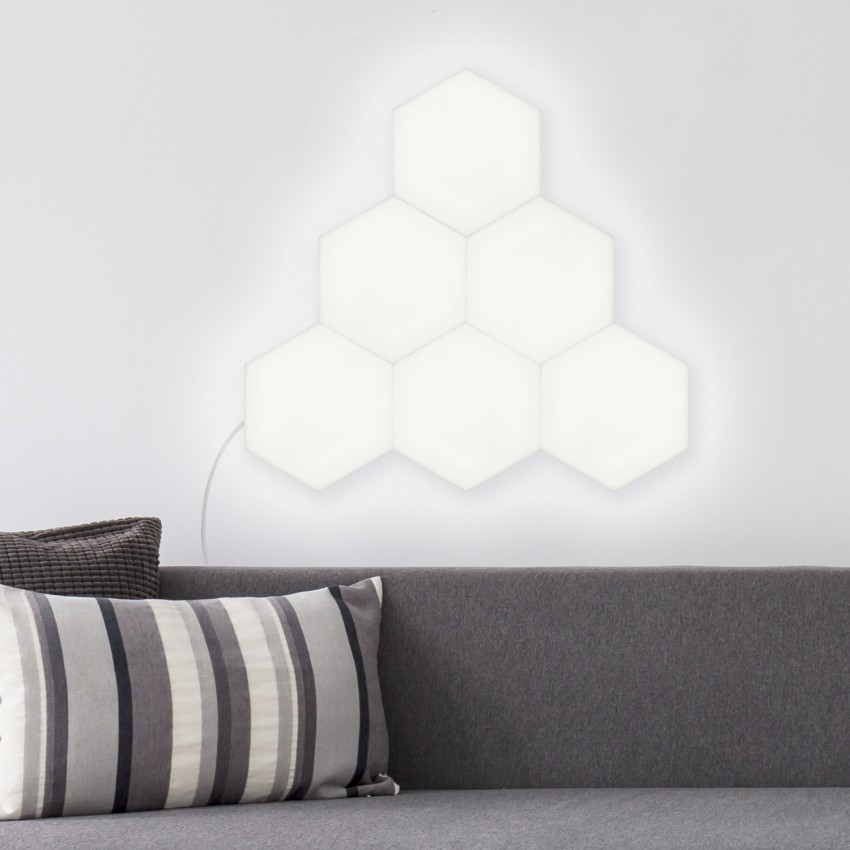 Hexagonal 9x9cm 3.5W 200lm LED Panel - Main Base