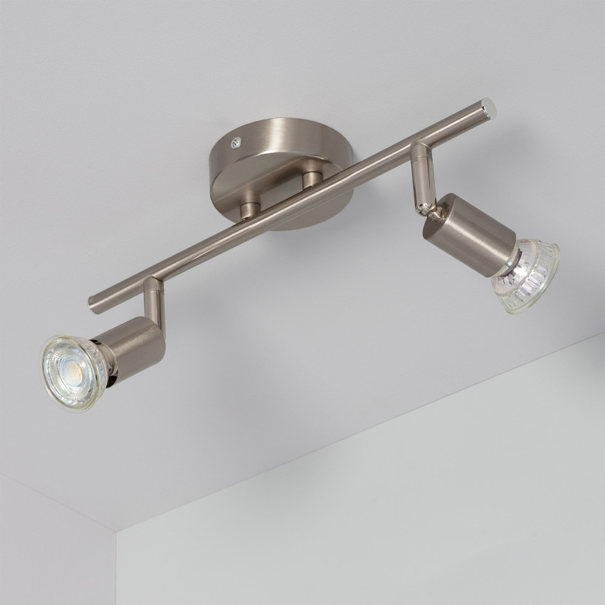 Adjustable Oasis Ceiling Spotlight (x2) in Silver