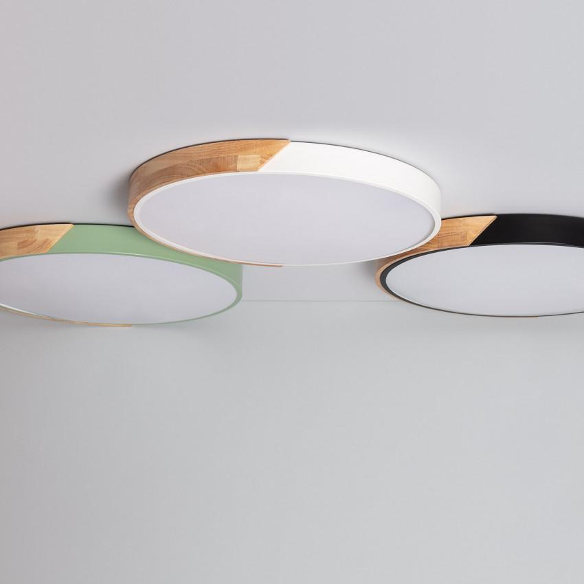 Round 36W CCT Semi-Dari LED Surface Light