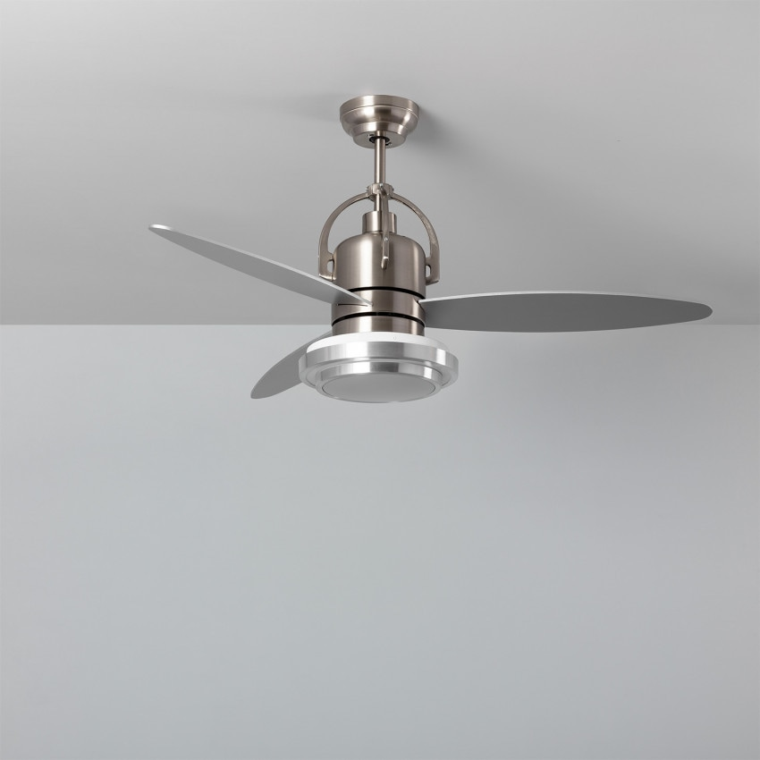 65W Big Industrial Silver LED Ceiling Fan