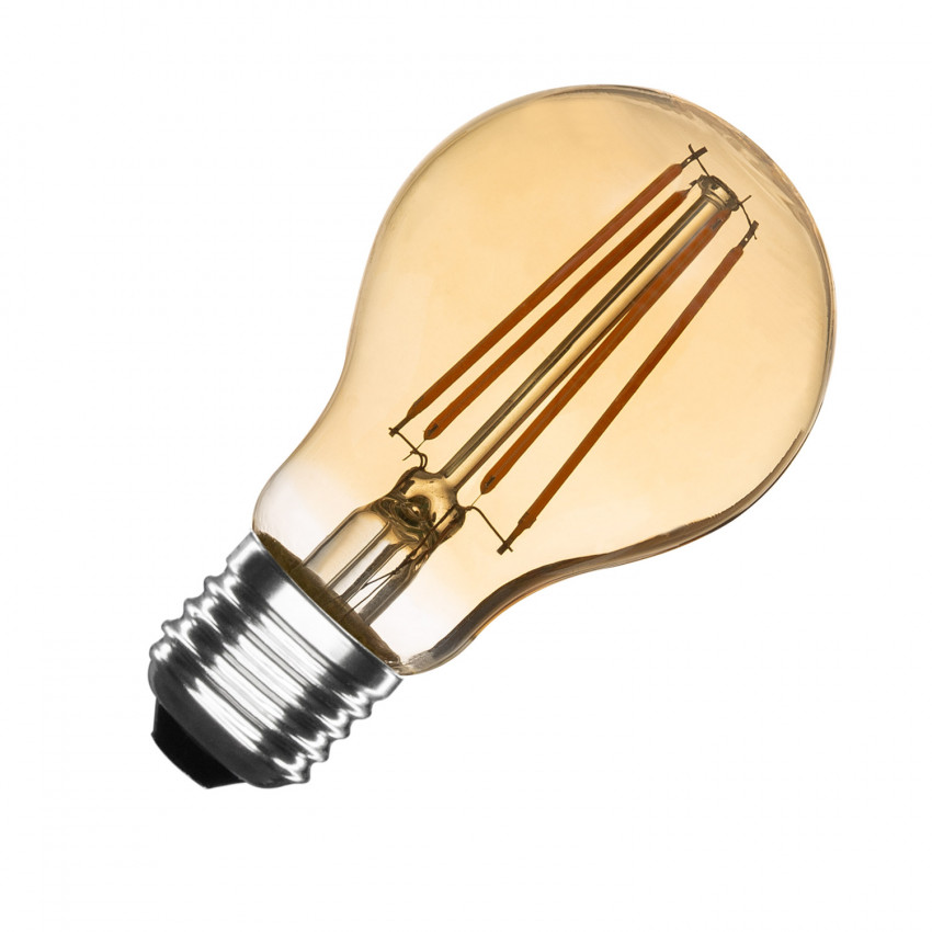 6W A60 E27 Gold Filament LED Bulb