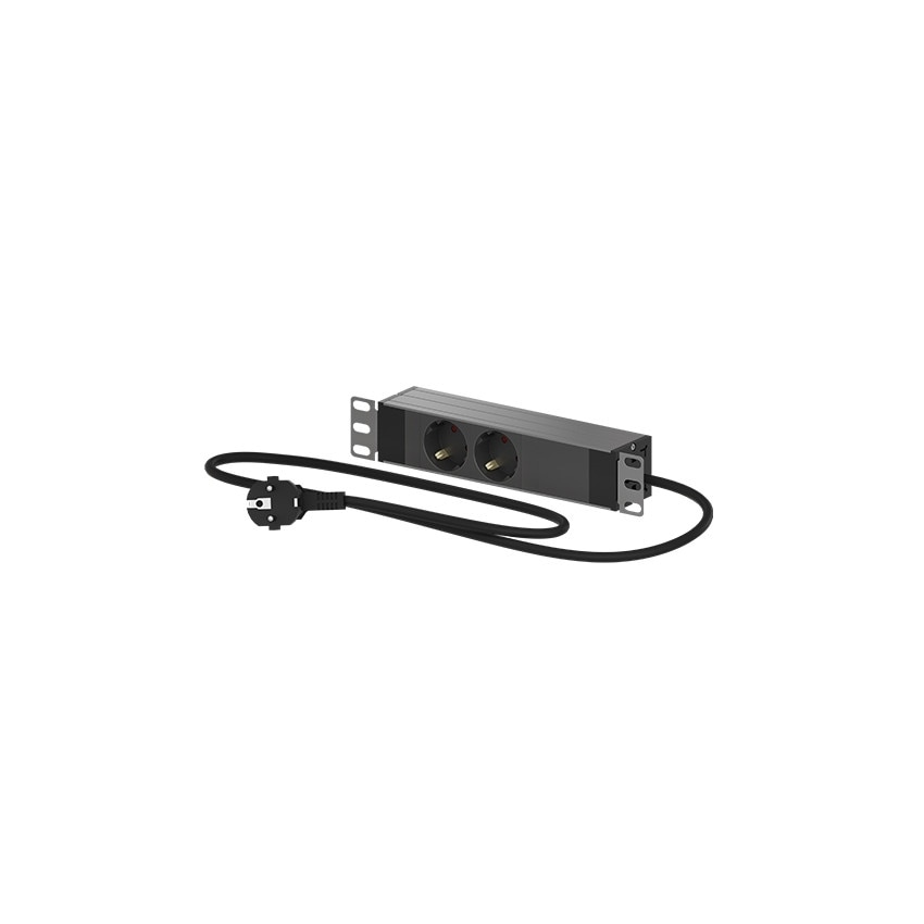 PDU Power strip with two 10'' outlets for Mini Rack 10'' OPENETICS 26005