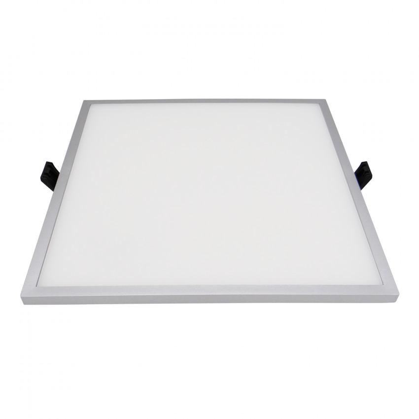 Grey Square Slim 30W (UGR19) LIFUD LED Surface Panel Ø205 mm Cut-Out