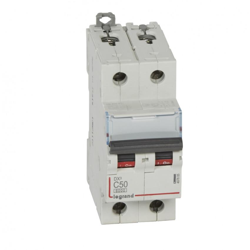 LEGRAND 407805  Curve C 6/10kA 50-63 A DX3 Tertiary 2P Thermal-magnetic Circuit Breaker