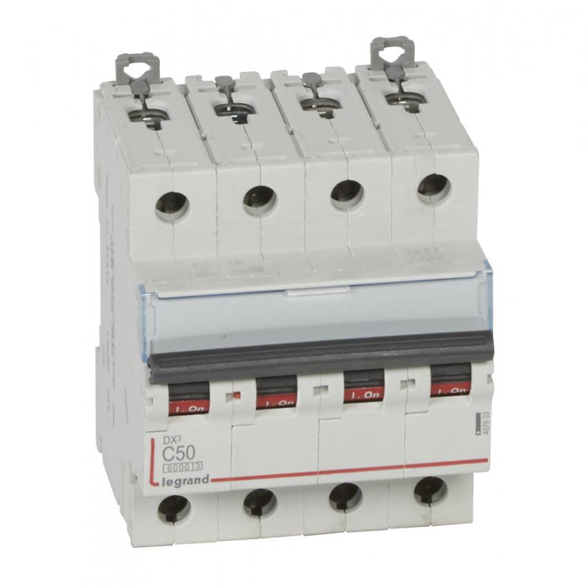 LEGRAND 4079333 Curve C 6/10kA 50 A DX3 Tertiary 4P Thermal-magnetic Circuit Breaker