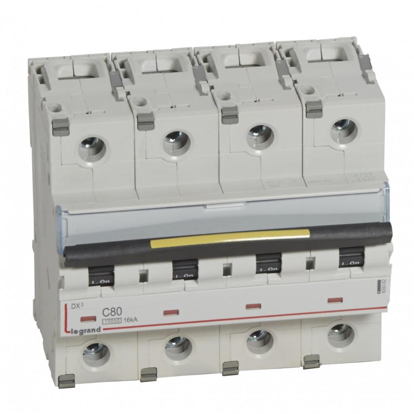 LEGRAND 409362 Curve C 10/16kA 80-125 A DX3 Tertiary 4P Thermal-magnetic Circuit Breaker
