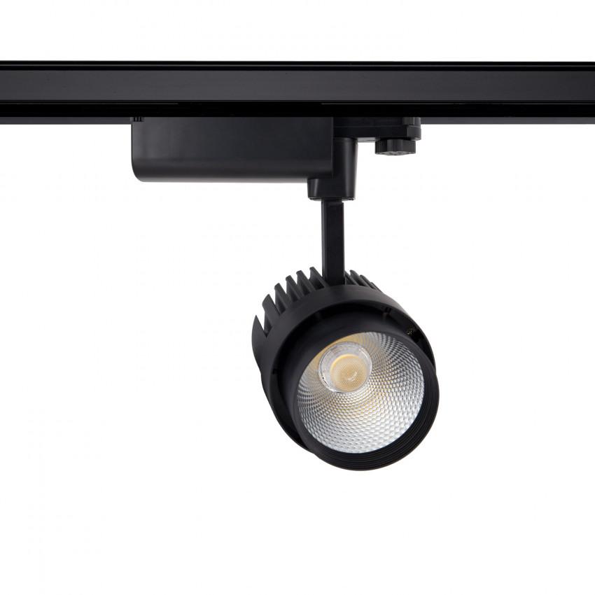 Black 30W Dora LED Spotlight for a Three-Circuit Track