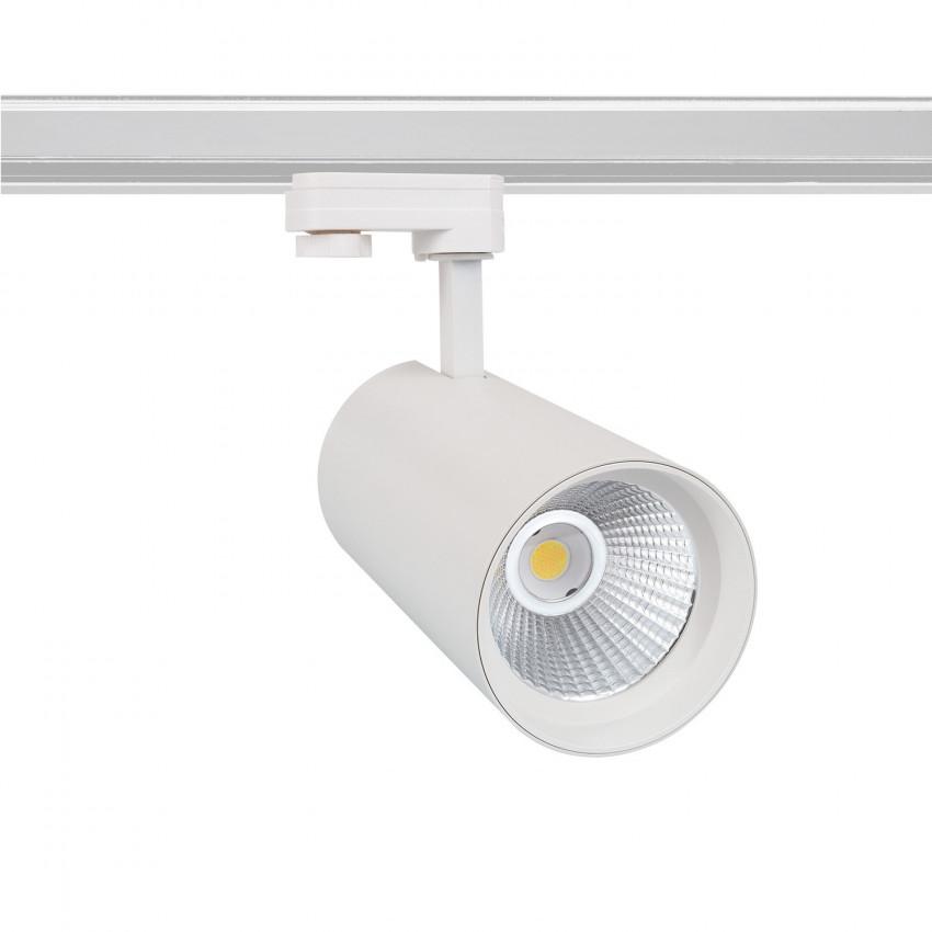 White 40W New d'Angelo LED Spotlight for a Three-Circuit Track - LIFUD