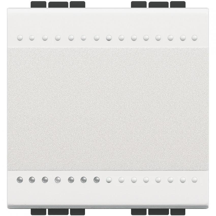BTicino Living Light N4001M2A 16 AX 250V AC 2 Modules Auto Terminal Single Switch Mechanism