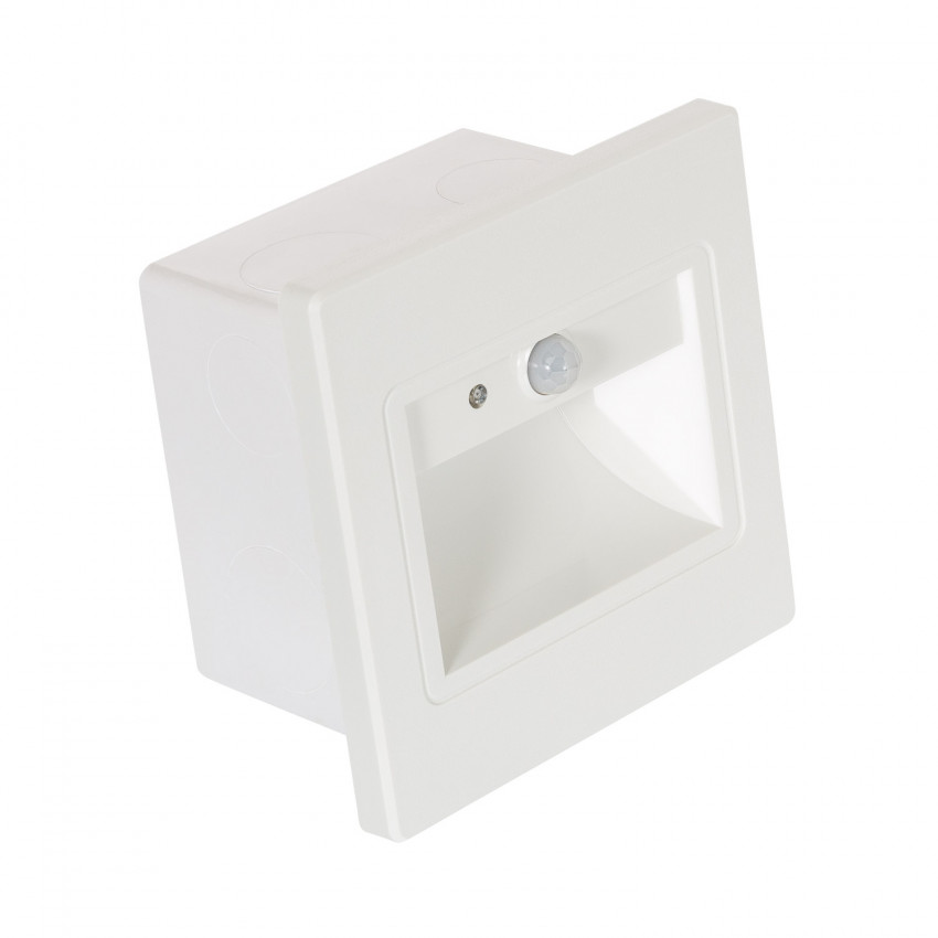 LED Beacon with PIR Sensor and a White Finish