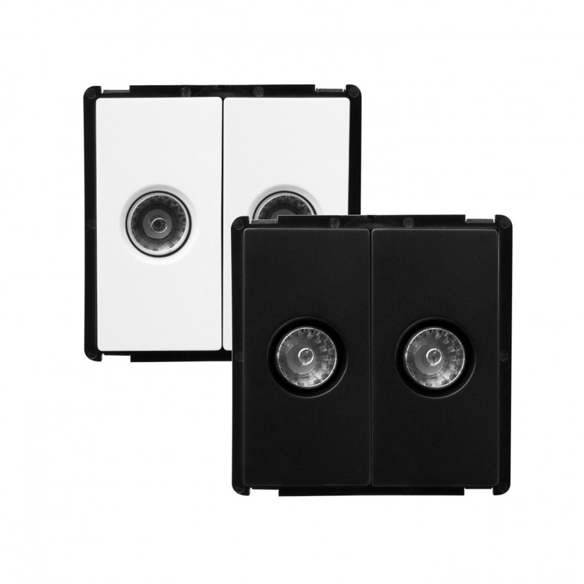 Double TV Socket Modern