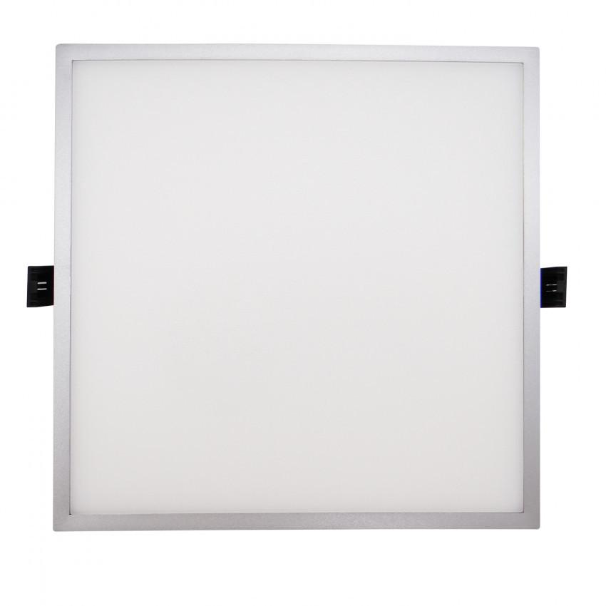Grey Square Slim 16W (UGR19) LIFUD LED Surface Panel Ø135 mm Cut-Out