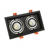2x10W Adjustable Madison CREE-COB LED Spotlight in Black