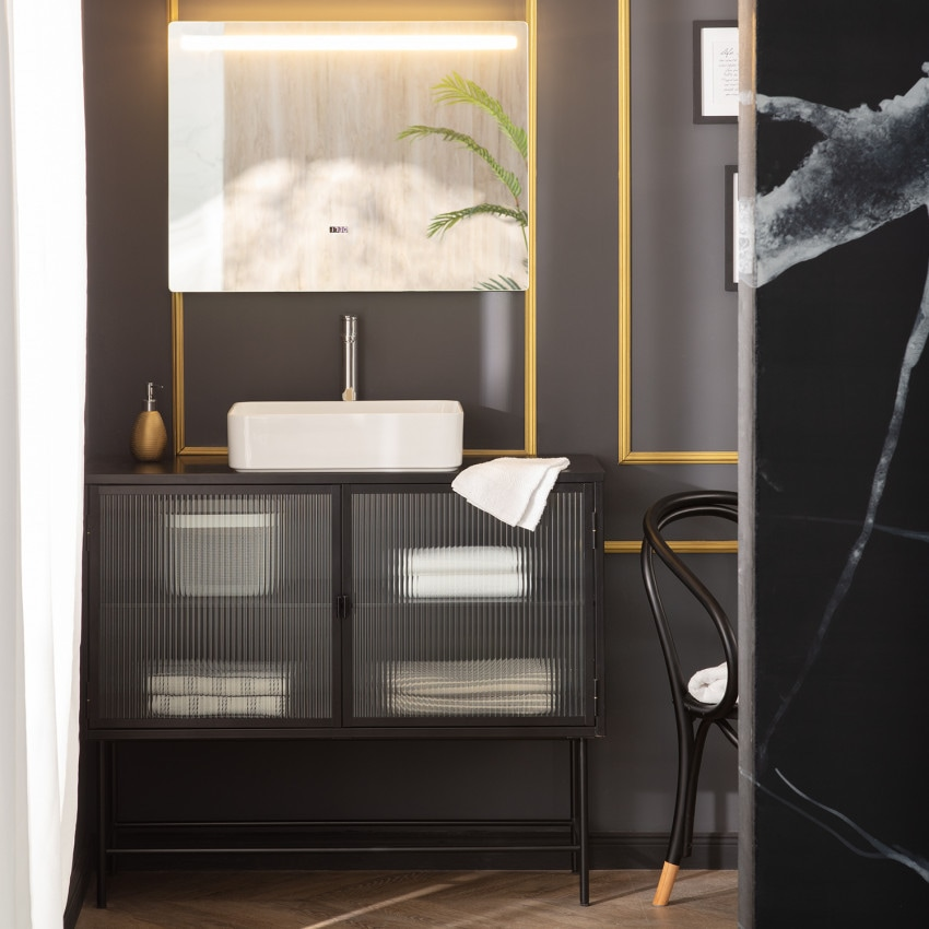 Big Benagil 60x80cm Anti-fog Tactile LED Decorative Mirror