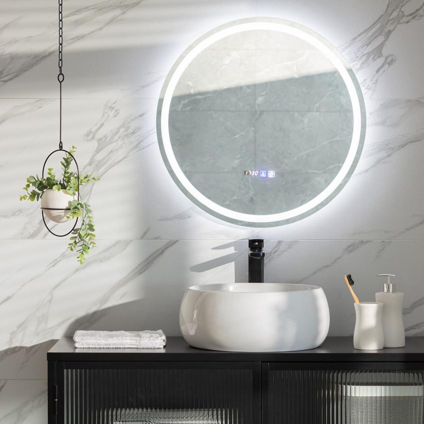 Stiniva  Ø60cm Anti-fog Tactile LED Decorative Mirror