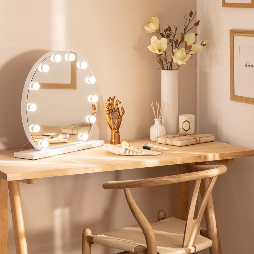 Aguadilla Tactile LED Decorative Mirror Ø 36.5cm