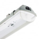 PC Tri-Proof Fixture for two 1500mm LED Tubes with One Side Power