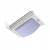 Solar Silver River LED Wall Light with PIR Sensor