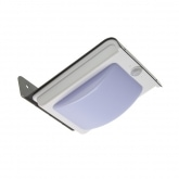 Solar Black River LED Wall Light with PIR Sensor