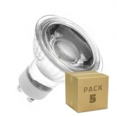 PACK of Glass GU10 5W COB LED Lamps (220V) (5 units)