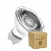 PACK of Glass GU10 45º 5W COB LED Lamps (5 Units)