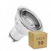 PACK of Glass GU10 45º 7W COB LED Bulbs (10 Units)
