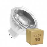 PACK of Glass GU5.3 MR16 220V 5W COB LED Lamps (10 Units)