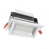 48W Adjustable Rectangular Samsung LED Spotlight Projector (120lm/W)